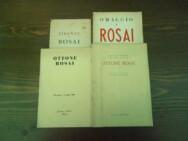 Lotto di quattro opuscoli su Ottone Rosai anni '50