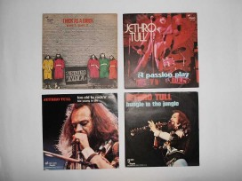 JETHRO TULL : 4 singoli made in Italy anni '70