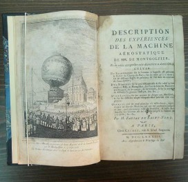 Faujas de Saint-Fond – Description des experiences………de M.M. Montgolfier